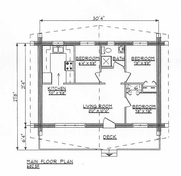 Log Cabin Plans Dds682w